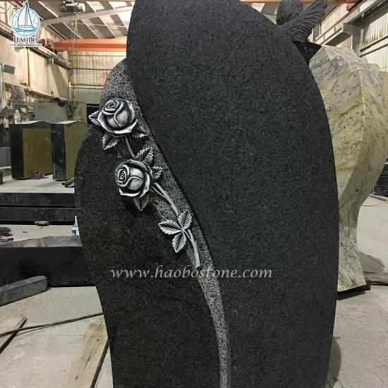 Boyal Black Granite Memorial Tombstone